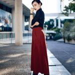 The wide leg cropped pants • Fashion