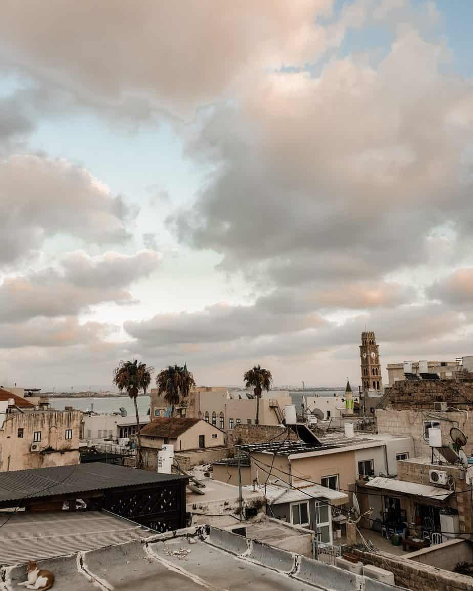הגג של מלון ערבסק עכו העתיקה