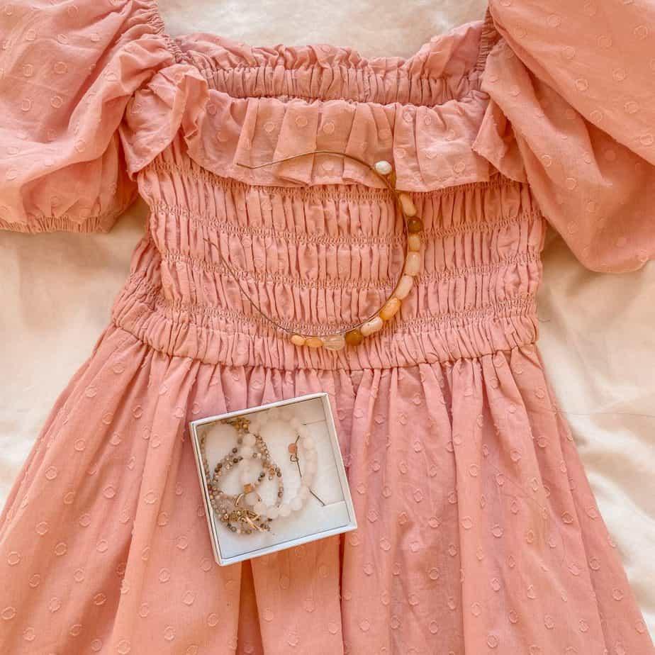 שמלה ורודה רומנטית romantic pink dress